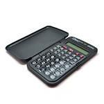 Калькулятор инжинерный 107А, 42 кнопки, черный, размеры 128*75*12мм, BOX