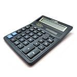 Калькулятор офисный стандарт 888TII, 33 кнопки, черный, размеры 206*156*31мм, BOX