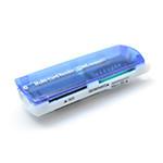 Кардридер универсальный 4в1 MERLION CRD-7BL TF/Micro SD, USB2.0, Blue, OEM