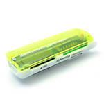 Кардридер универсальный 4в1 MERLION CRD-7GR TF/Micro SD, USB2.0, Green, OEM