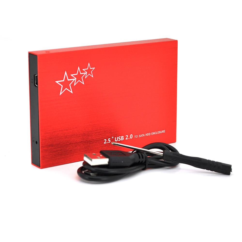 """Карман ShuoLe U25E30, 2,5""""алюминиевый корпус,интерфейс USB3.0 SATA, red"""