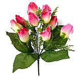 Роза бутон 10 голов  35 см(12 шт в уп) , фото 2