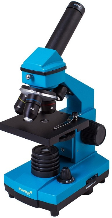 Микроскоп LEVENHUK Rainbow 2L Plus лазурный