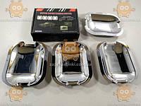 Накладки ручек дверных Mercedes Benz Vito ХРОМ! (4шт) (пр-во TYPER Польша)