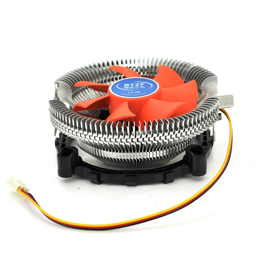 Кулер процессорный Am2/Am3/FM1/FM2/LGA 1150/1155/1156, 80-mm, 3-pin, Orange