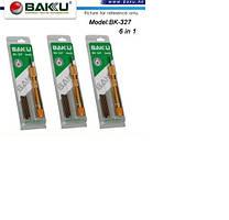 Набор инструментов BAKKU BK-327(Ручка+6насадок), Blister