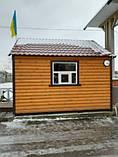 Бытовка строительная 6х2,30 м (внутри деревянная вагонка), фото 5