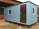 Бытовка строительная 6х2,30 м (внутри деревянная вагонка), фото 2