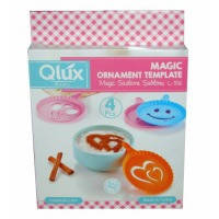 Набор трафарет для кофе Qlux MIX, 4 предмета