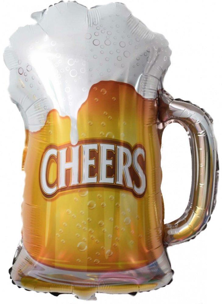 Фольгированный шар кружка пива 70х52 см (Китай) в упаковке