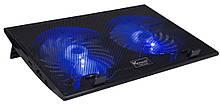 "Подставка под ноутбук DCX-006 +speeder (VE-NB79), 9-17"", 2x150mm LED 800±10% RPM, корпус пластик, 2xUSB 2.0, 390x265x20mm, Black, Box"