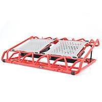 """Подставка под ноутбук DCX-009, 9-17"""", 2x120mm LED 1500±10% RPM, корпус пластик, 2xUSB 2.0, 383x285x50mm, red, Box,"""
