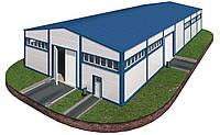 Здание 14х42х6 - Под ключ. Утеплёное из сендвич-панелей. Ангар,склад, здание, цех, помещение.