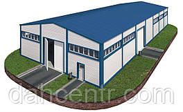 Здание 18х36х6 - Под ключ. Утеплёное из сендвич-панелей. Ангар,склад, здание, цех, помещение.
