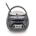 Радиоприемник GOLON RX-186, Led, 2x3W, FM радио, Входы microSD, USB, AUX, корпус пластмасс, Black, BOX
