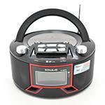 Радиоприемник SONALAS SL-663RQ, LED,2x3W, FM радио, Входы microSD, USB, AUX, корпус пластмасс, Black, BOX