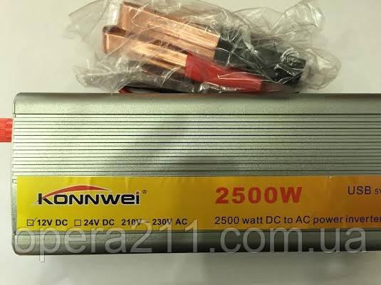 Инвертор напряжения, преобразователь 24/220V - 2500W