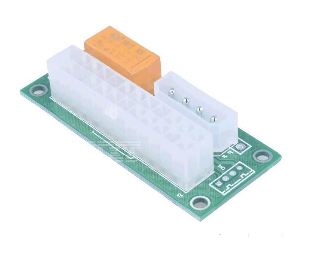 Синхронизатор блоков питания ADD2PSU, MOLEX + SATA, цена за штуку, Пакет