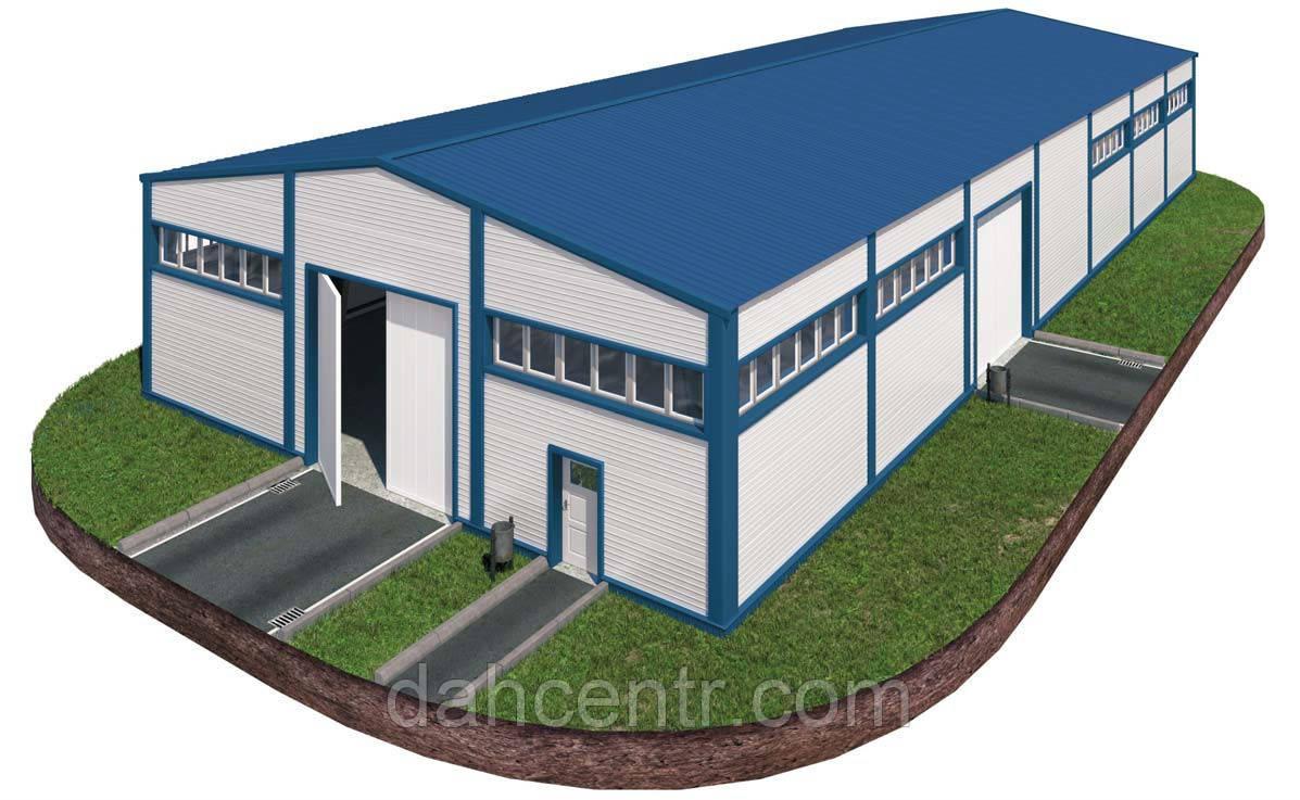 Здание 14х42х5 - Под ключ. Утеплёное из сендвич-панелей. Ангар,склад, здание, цех, помещение.