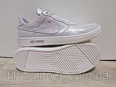 29a607a6 Кроссовки женские найк блестящие белые кожаные повседневные Nike, фото 2