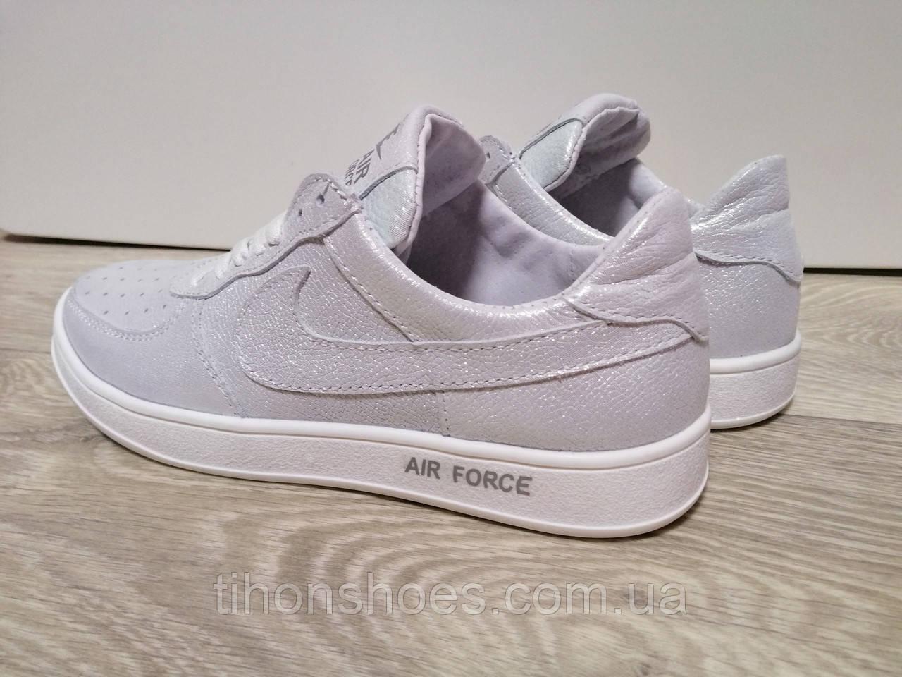 07370a21 Кроссовки женские найк блестящие белые кожаные повседневные Nike, цена 750  грн./пара, купить в Харькове — Prom.ua (ID#908599109)