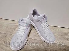 415bd74b Кроссовки женские найк блестящие белые кожаные повседневные Nike, фото 3