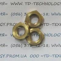 Гайка шестигранная низкая латунная ГОСТ 5916-70, DIN 439.