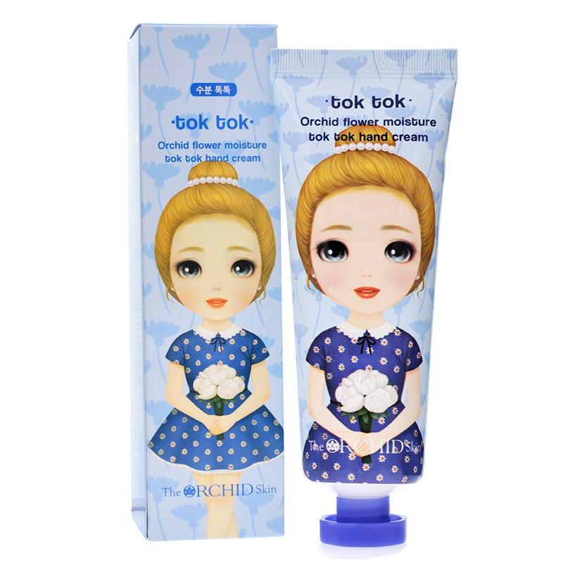 Увлажняющий крем для рук с экстрактом орхидеи голубой The Orchid Skin Moisture Tok Tok Hand Cream 60 мл