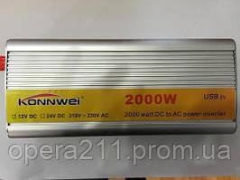 Инвертор напряжения, преобразователь 12/220V - 2000W