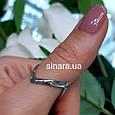 Серебряное кольцо на большой палец родированное, фото 5