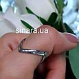 Серебряное кольцо на большой палец родированное, фото 4