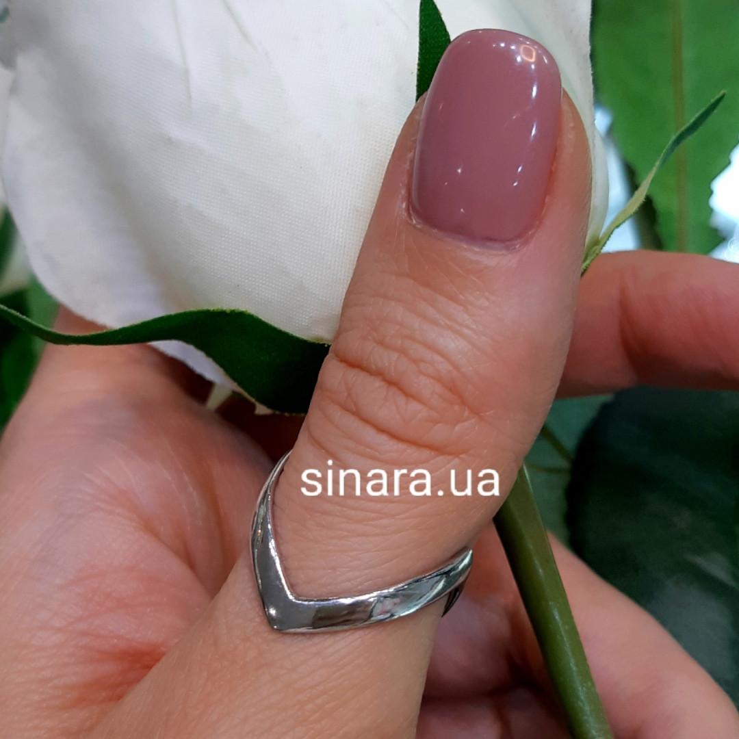 Серебряное кольцо на большой палец родированное
