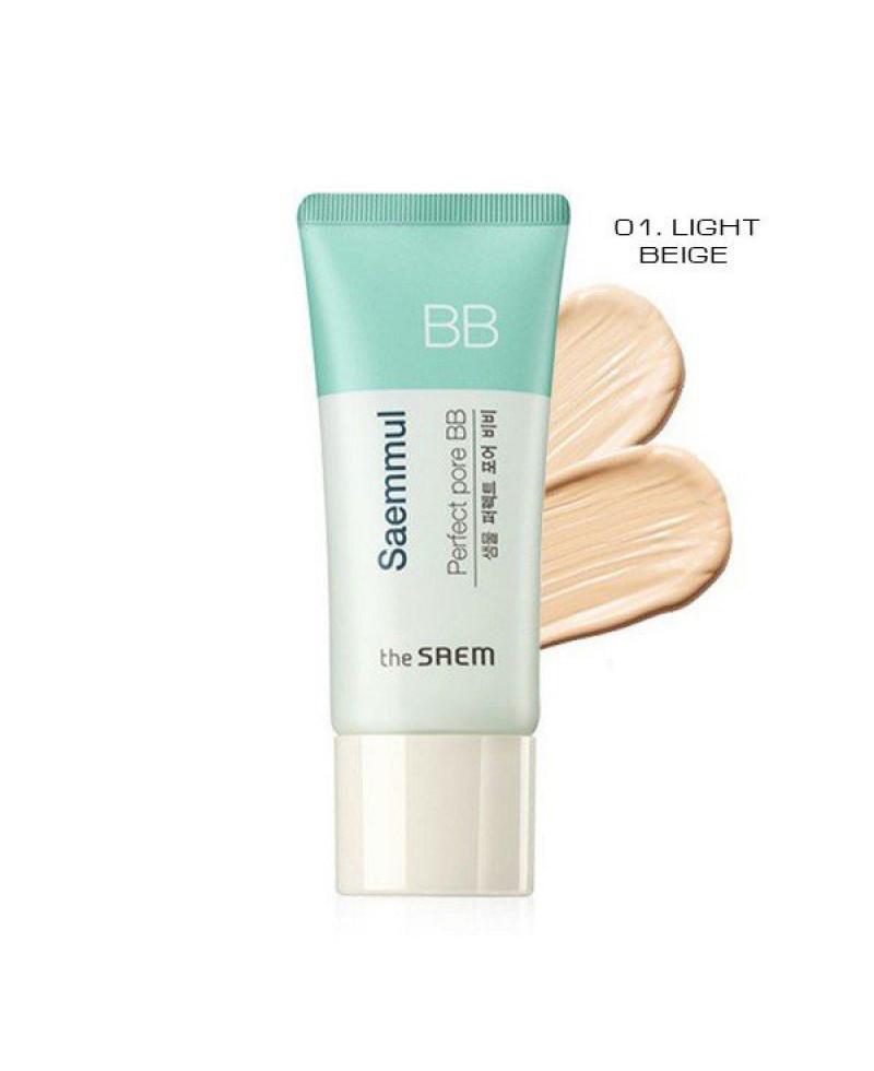 ББ крем для кожи скрывающий поры The Saem Saemmul Perfect Pore BB  01 Light Beige 15 мл