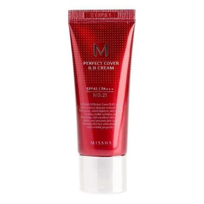 ВВ-крем для лица Missha M Perfect Cover BB Cream SPF42/PA+++ (No.21/Light Beige) 20ml