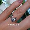 Серебряное родированное кольцо без камней Balls, фото 3
