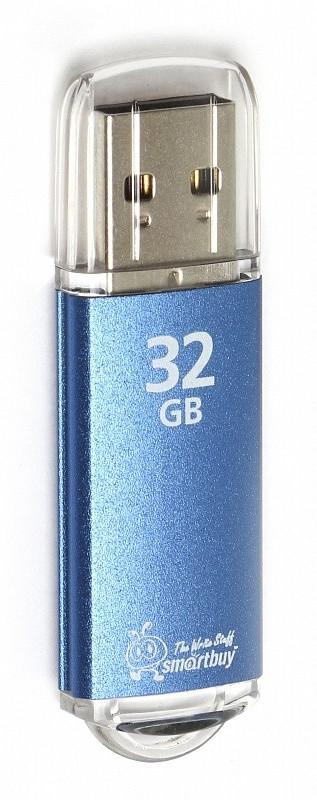 Флеш накопитель Smartbuy 32 гб V-Cut черный,голубой,серебряный