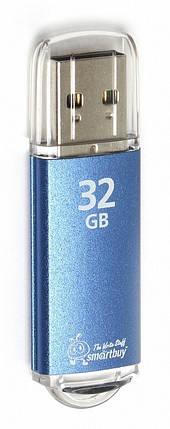 Флеш накопитель Smartbuy 32 гб V-Cut черный,голубой,серебряный, фото 2