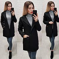Пальто кашемировое+плащевка, модель 821/1, цвет - черный