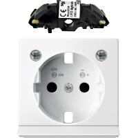 Центральная плата розетки SCHUKO с светодиодным модулем белый Shneider Merten (MTN2334-0319)