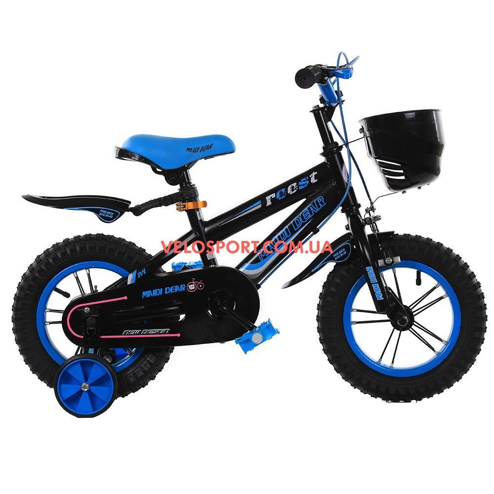 Детский велосипед Maidi Dear 240 12 дюймов черно-синий