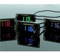 Цифровой вольтметр влагозащищенный IP65, диапазон измерений 4 -30V, Red