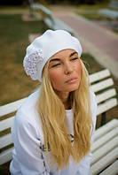 "Женский зимний берет ""Надин"" - белый"