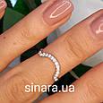 Серебряное кольцо на фалангу  - Кольцо на фалангу минимализм серебро родированное, фото 2
