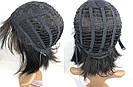 💎 Парик женский каре чёрный, из натуральных волос с чёлкой 💎, фото 7