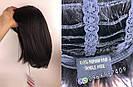 💎 Парик женский каре чёрный, из натуральных волос с чёлкой 💎, фото 8