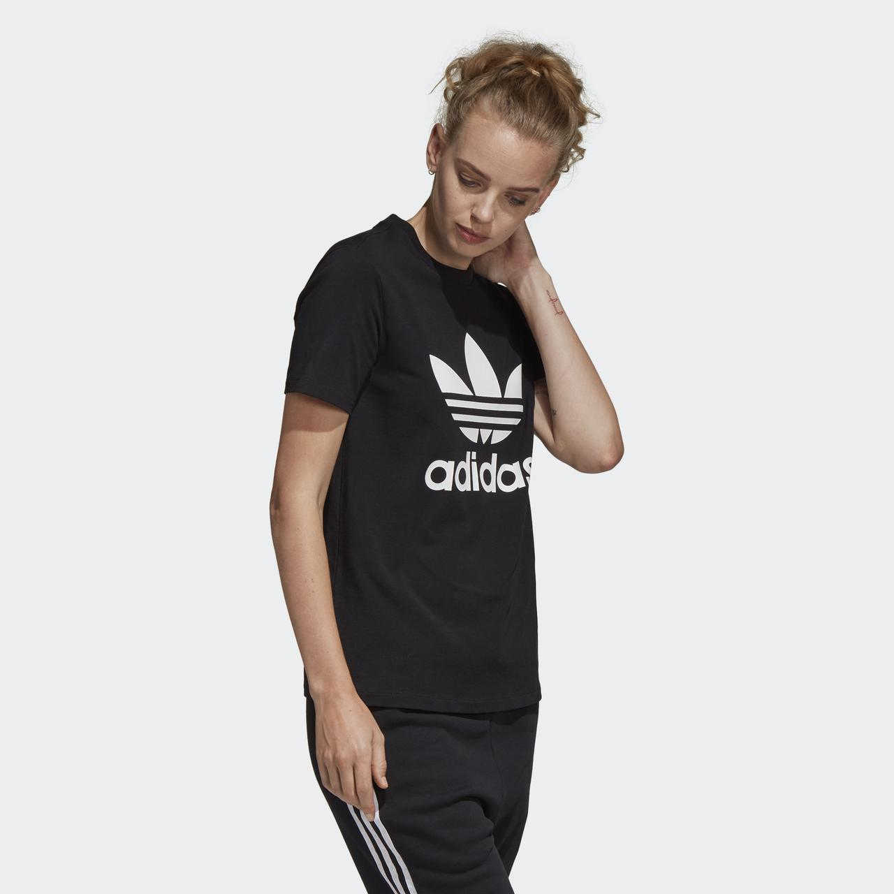 ac10e8ad Женская футболка Adidas Originals Trefoil Tee CV9888 - 2019: продажа ...