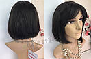 💎 Натуральный парик каре с чёлкой, без имитации 💎 из натуральных волос, фото 2