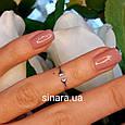 Фаланговое кольцо родированное серебро, фото 2
