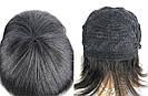 💎Женский парик каре из натуральных волос, чёрный с чёлкой, фото 8