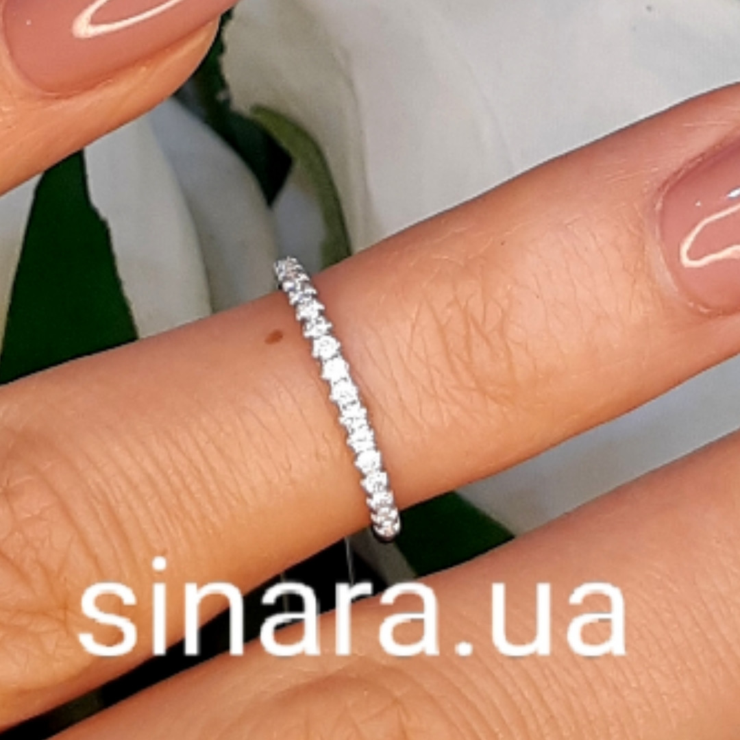 Фалангове кольцо Дорожка серебро родированное